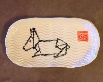Origami Rabbit Tray