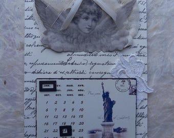 perpetual calendar retro Angel