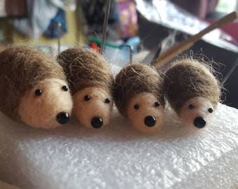 Needle felted Baby Hedgehogs