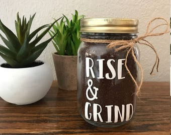 Rise & Grind Coffee Decal