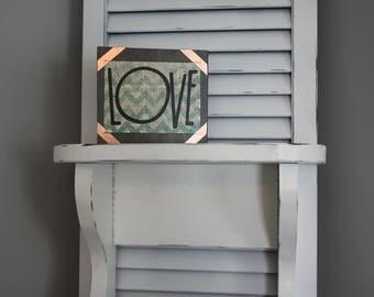 "Wood block ""Love"""