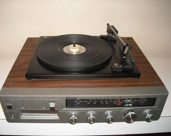 Emerson M-2100A Record Player Multiplex 8 Track Turntable Receiver