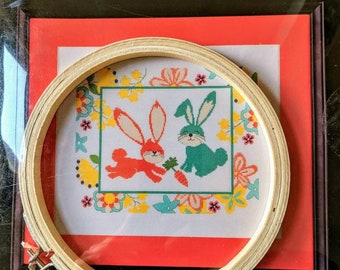 Easter Bunny Cross Stitch Set