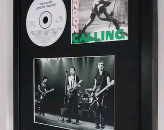 The Clash London Calling Luxury Framed Limited Edition-Original CD montage-Certificate Supplied Totally Unique