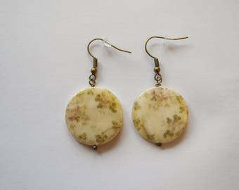 Ivory Pearl Flower Earrings