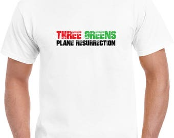 Plane Resurrection Three Greens T Shirt
