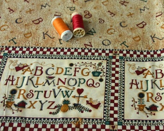 Patchwork alphabet print by DEBBIE MUMM fabric