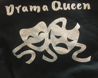 Drama Queen Vinyl Iron-On Custom Made