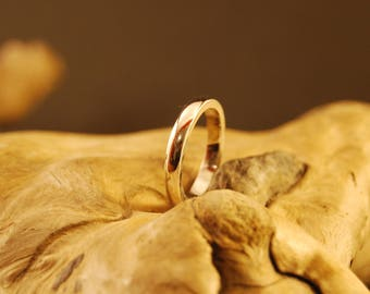 "Original and handcrafted silver ring ""care"""