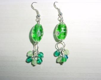 Dangle earrings Lampwork Glass Beads