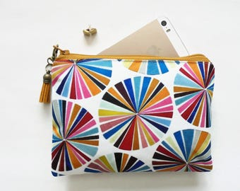 Mum gifts, sewing Pouch, colour wheel, sewing bag, travel wallet, small zipper bag, wallet pouch.