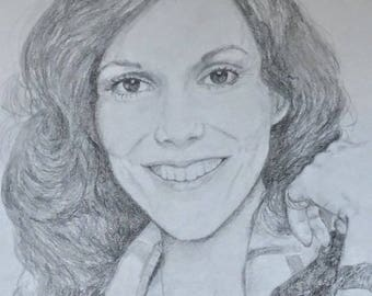 Karen Carpenter Pencil Art