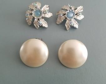 Set of Vintage clip on Earrings