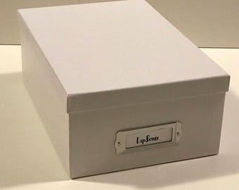 White LipSense storage box
