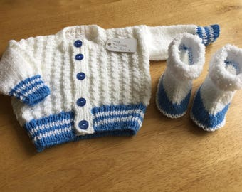 Cardigan and bootie set