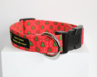 Christmas Tree dog collar, Christmas dog collar