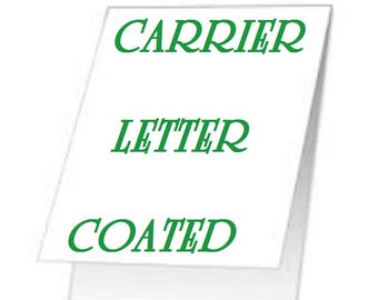 2 Pack Of Carrier Sleeves For Laminating  Pouches Letter Size