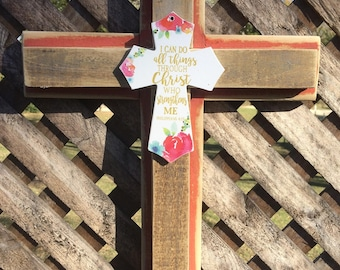 Peach Cross with Accent Cross