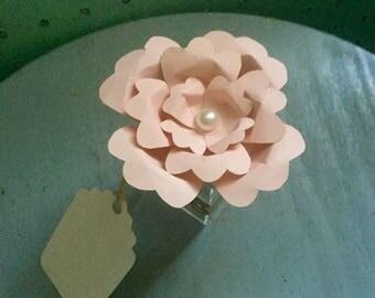 Hand made paper flower favor boxes - 1 Dozen, most popular, bridal shower, baby shower, sweet 16, wedding