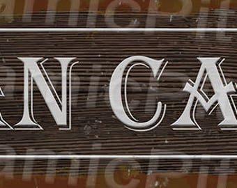 20x60cm Man Cave Rustic Tin Sign