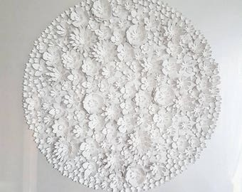 Large circular 3D paper flowers
