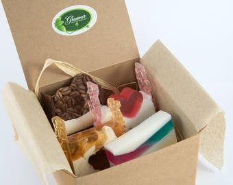 Gift box with Goats milk soaps - Handmade soaps