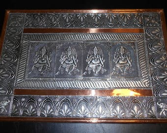 REDUCED!!! Ganesh Wall Art Copper and Metal, Made In India