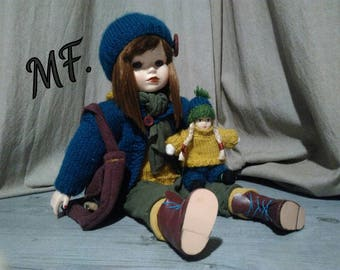Custom revamped porcelain doll Juju and his miniature
