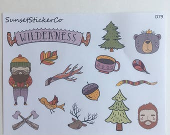 Lumberjack Clipart Stickers (D79)