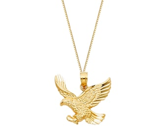 14K Gold Philly Eagles Pendant Chain Necklace