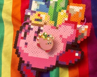 Pride Crystal Kirby Pin