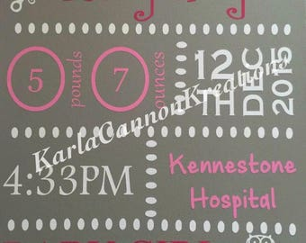 12x12 Personalized Canvas wall hanging