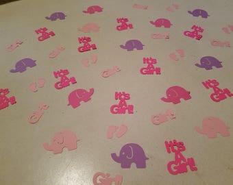 Baby Girl Shower Confetti