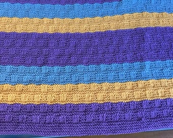 Bright and beautiful hand made blanket - made to order