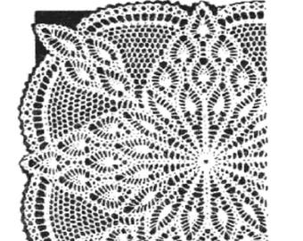 Alice Brooks TV Cover , Table centrepiecePDF Crochet Pattern