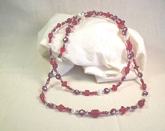 Ruby Red Long Necklace