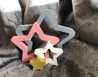 Freestanding stacking stars - Nursery Decor