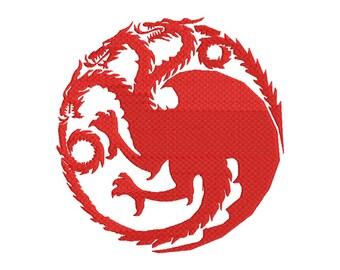 House Targaryen Embroidery Design - 5 SIZES