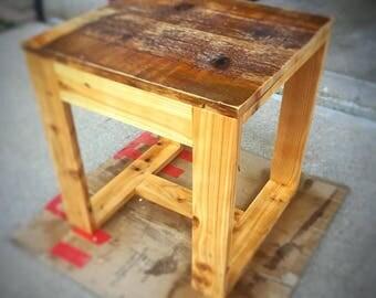 Reclaimed Cedar Side Table