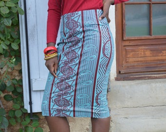 Wax way woven cloth skirt