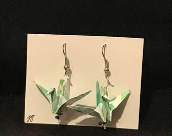 Origami Crane Earrings