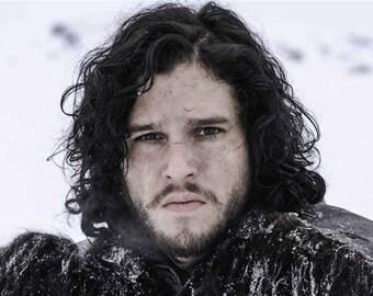 Game of Thrones Men's Jon Snow Black Wig Cosplay