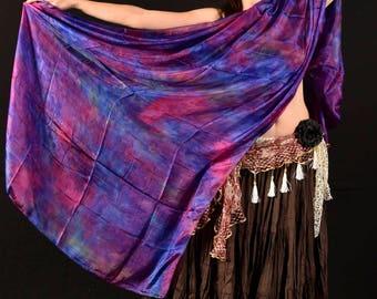Vivacious Violet - Hand Dyed Silk Veil