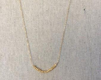 Dainty Gold beads Necklace Dainty Boho Minimalist Jewelry