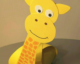 giraffe for baptism favors box