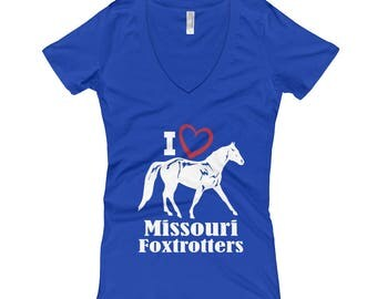 I Love Missouri Foxtrotters Womens V-Neck T-shirt