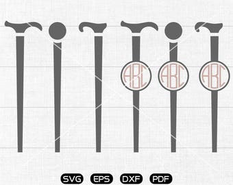 Crutch Svg, Crutch Clipart, Monogram Frame cricut, cameo, silhouette cut files commercial & personal use