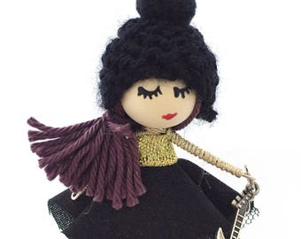 Original Doll brooch, Rock Star