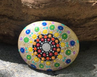 Hand Painted Natural Color River Stone