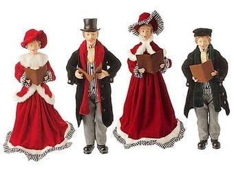Raz Imports 18'' Christmas Carolers (Set of 4) RAZ3400769